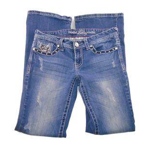 Vanity Jeans 27x33 Original Boot Cut Distressed